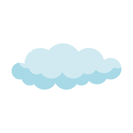 cloud sky silhouette icon vector illustration design