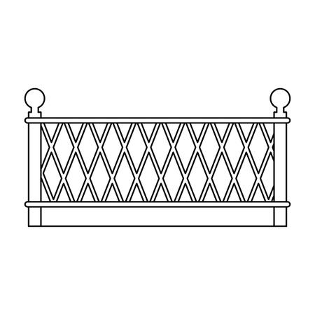 金属製建物フェンスアイコンベクトルイラストデザイン  イラスト・ベクター素材