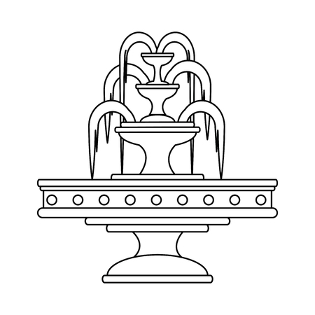 park water fountain icon vector illustration design 向量圖像