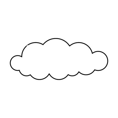 cloud sky silhouette icon vector illustration design