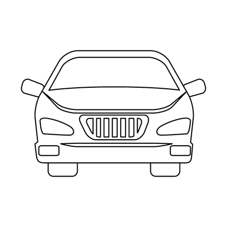 car vehicle isolated icon vector illustration design