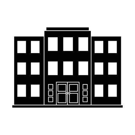 bâtiment avant isolé icône du design illustration vectorielle