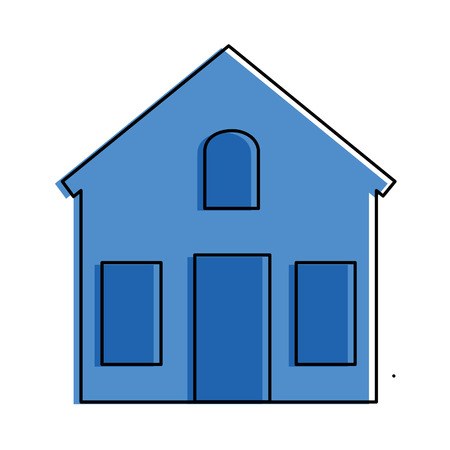 mansion front isolated icon vector illustration design Banco de Imagens - 88409551