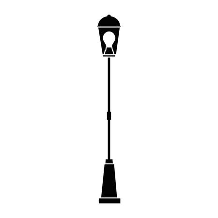Park lantern on white background, vector illustration. Illustration