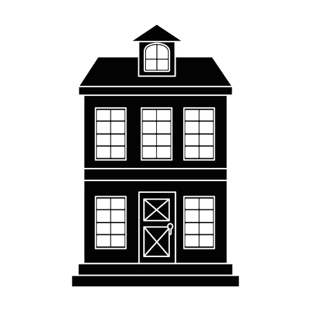 mansion front isolated icon vector illustration design Banco de Imagens - 88410155