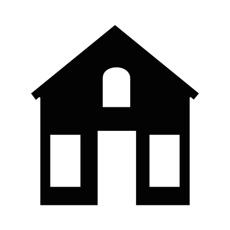 house silhouette isolated icon vector illustration design Banco de Imagens - 88410002