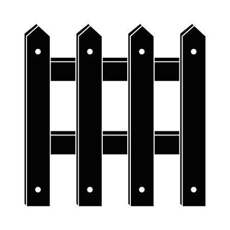 houten hek geïsoleerd pictogram vector illustratie ontwerp
