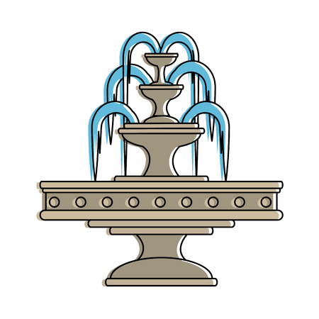 park water fountain icon vector illustration design Illustration