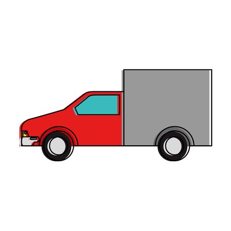 Bestelwagen geïsoleerd pictogram vector illustratieontwerp Stockfoto - 88410090