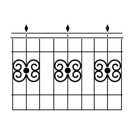 Edifício de metal cerca ícone vector ilustração design Foto de archivo - 88430465