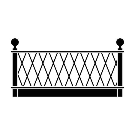金属のフェンスのアイコン ベクトル イラスト デザインの建物