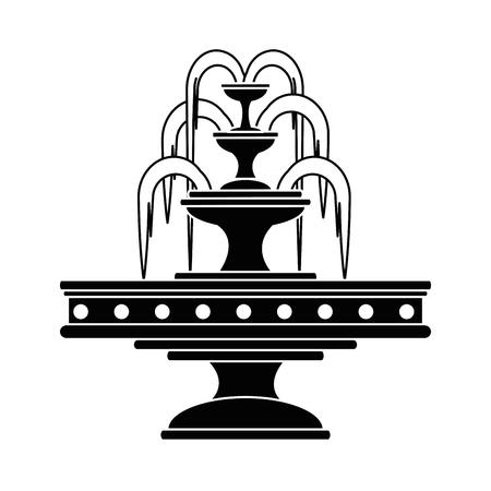 fontaine de l & # 39 ; eau de jardin icône illustration vectorielle conception
