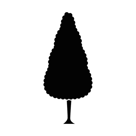 beautiful tree park icon vector illustration design