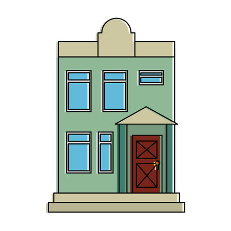 mansion front isolated icon vector illustration design Banco de Imagens - 88414932