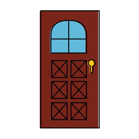 家のドアのアイコン ベクトル イラスト デザインを分離しました。