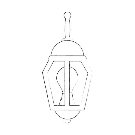 park lantern isolated icon vector illustration design