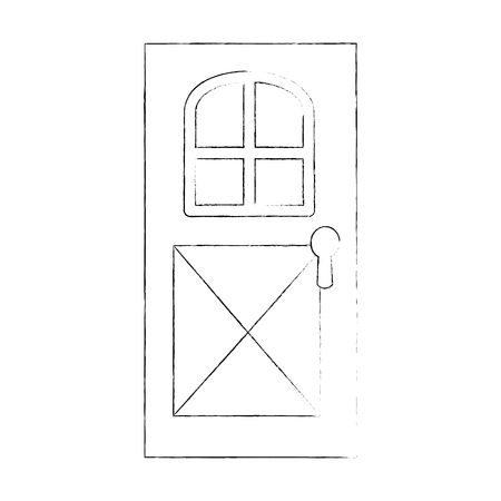 house door isolated icon vector illustration design 向量圖像