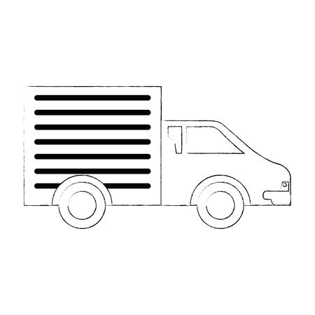 配送トラック分離アイコン ベクトル イラスト デザイン  イラスト・ベクター素材