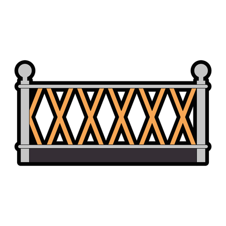 metal building fence icon vector illustration design