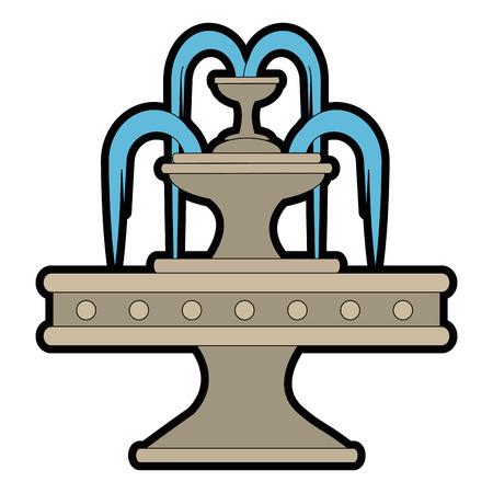 park water fontein pictogram vector illustratie ontwerp