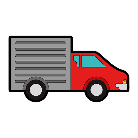 delivery truck isolated icon vector illustration design