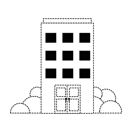 건물 전면 아이콘 벡터 일러스트 디자인 격리