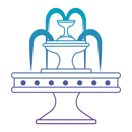 park water fountain icon vector illustration design Stock Vector - 88415086