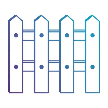 木製フェンス分離アイコン ベクトル イラスト デザイン
