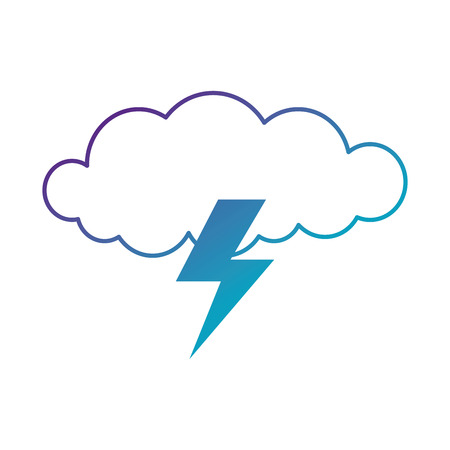 cloud with rays storm vector illustration design Stock Vector - 88415102
