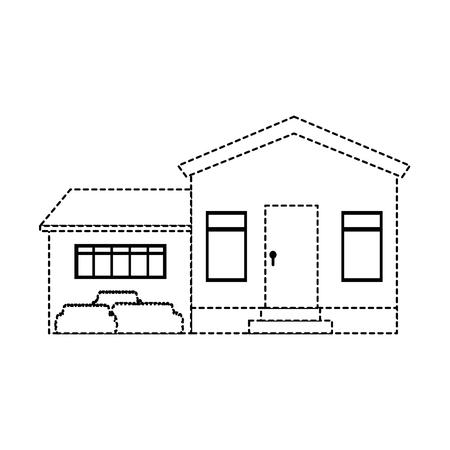 マンション フロント分離アイコン ベクトル イラスト デザイン