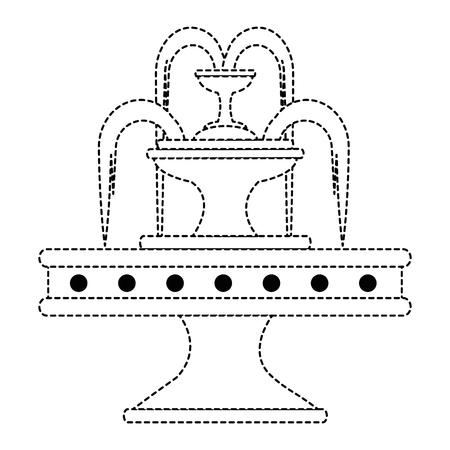 Progettazione dell'illustrazione di vettore dell'icona della fontana dell'acqua del parco Archivio Fotografico - 88431988