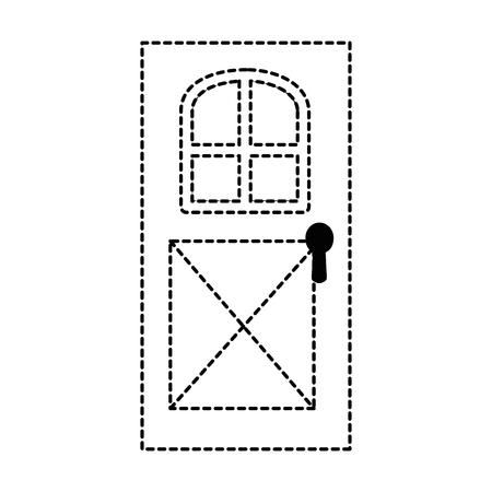 house door isolated icon vector illustration design 向量圖像