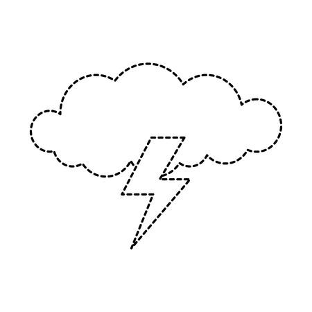 광선으로 구름 폭풍 벡터 일러스트 레이 션 디자인 일러스트