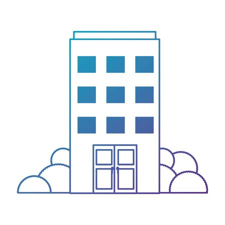 gebouw voorzijde geïsoleerd pictogram vector illustratie ontwerp