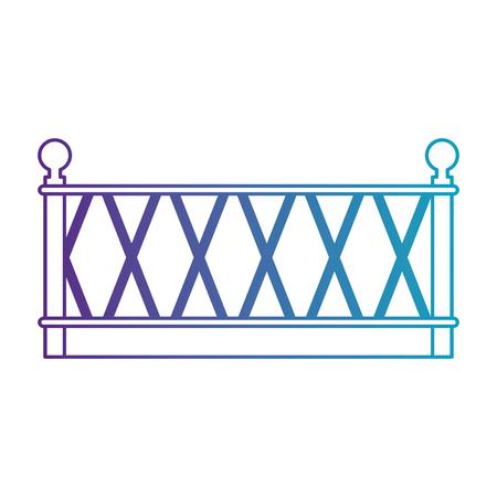 Edifício de metal cerca ícone vector ilustração design Foto de archivo - 88430643
