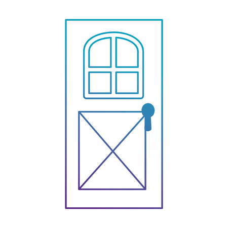 house door isolated icon vector illustration design Ilustrace