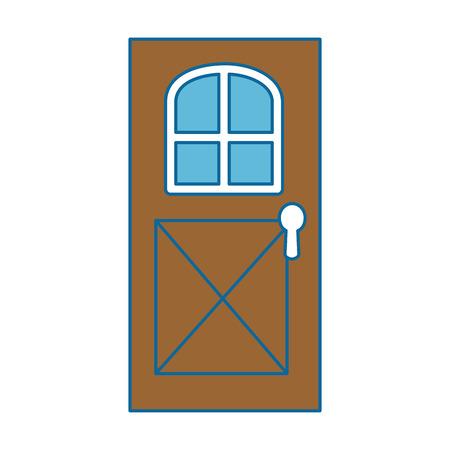 ハウスドア分離されたアイコンベクトルイラストデザイン