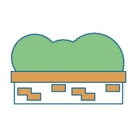 Illustrazione vettoriale illustrazione icona di costruzione arbusto giardino Archivio Fotografico - 88452722