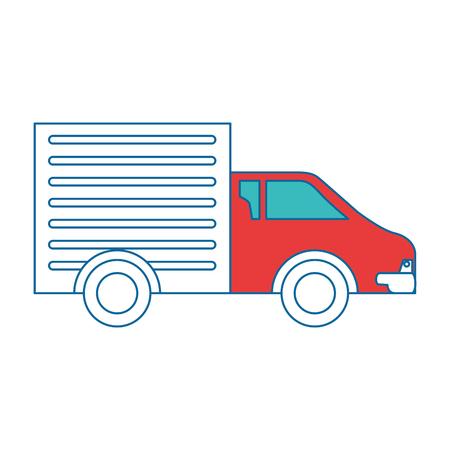 Camion de livraison isolé icône du design illustration vectorielle Banque d'images - 88452725