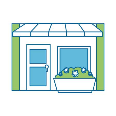 店の前分離アイコン ベクトル イラスト デザイン