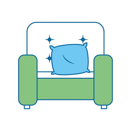 Home couch isolated icon vector illustration design