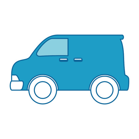 car vehicle van icon vector illustration design