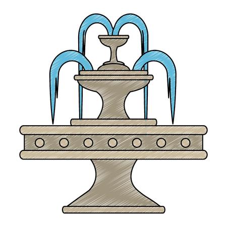Diseño de ilustración de vector de icono de fuente de agua de parque Foto de archivo - 88414172