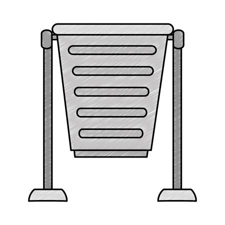 park trash can icon vector illustration design