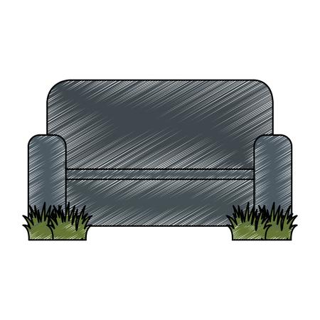 home couch isolated icon vector illustration design Ilustração