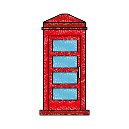 phone booth isolated icon vector illustration design Illustration