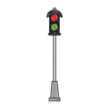 pedestrian Traffic Light icon vector illustration design