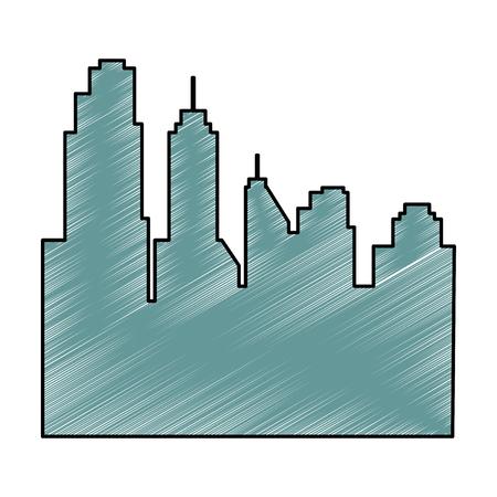 Stadtbild Silhouette isoliert Symbol Vektor-Illustration , Design , Standard-Bild - 88414632