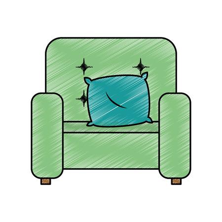家のソファのアイコン