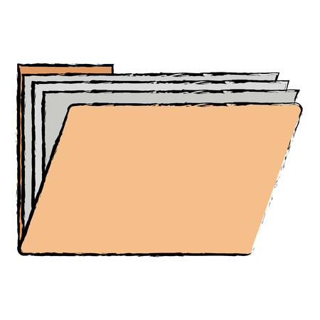 folder document isolated icon vector illustration design Çizim